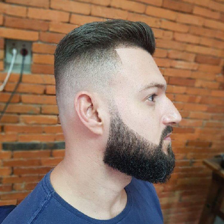 Corte Degrade e barba lenhador